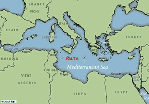 Description: map of Mediterranean Sea
